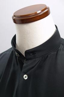 スタンドカラーシャツ1ボタン