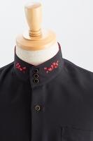 スタンドカラー3ボタンヒートカットシャツ