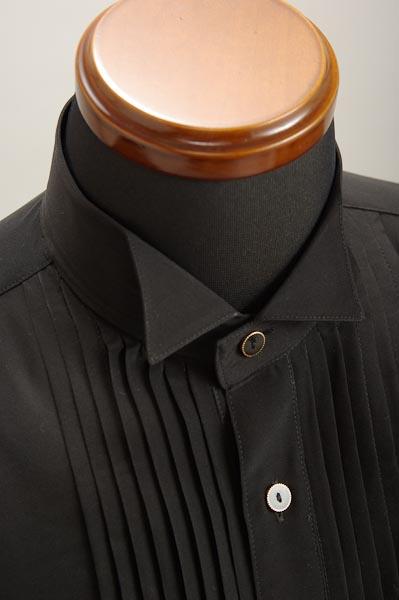 ウイングカラーシャツ ブラック