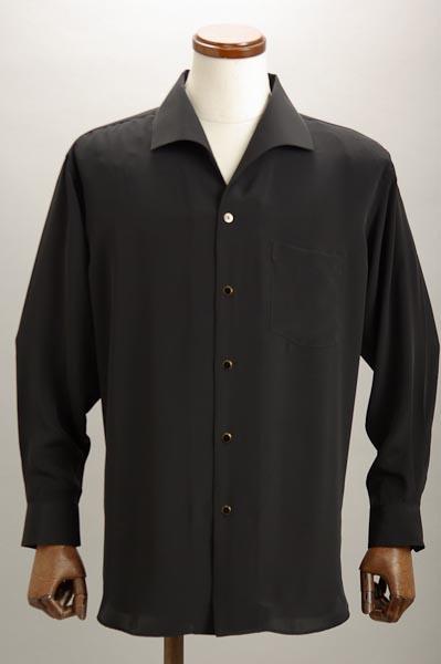 イタリアンカラーシャツ ブラック