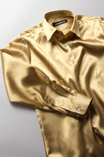 レディース サテンシャツ ゴールド #02