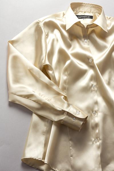 レディース サテンシャツ シャンパンゴールド #03