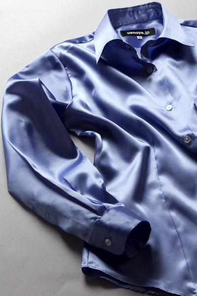 レディース サテンシャツ すみれ色 #15