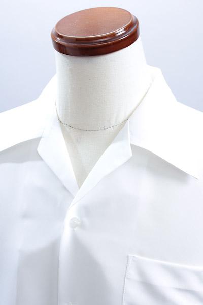 開襟シャツ ホワイト