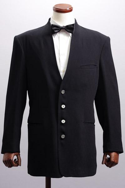 カラーレスジャケット 楊柳織 ブラック