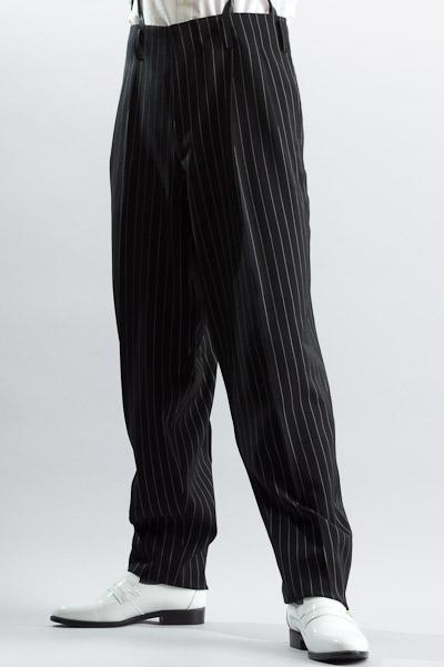 ズートパンツ ・zoot pants ペンシルストライプ #0306 ブラック