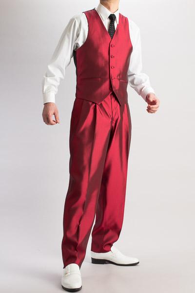 ズートベスト・Zoot Vest  シャンブレーワインレッド #215