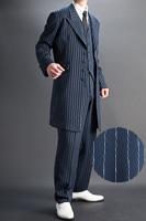 ズートスーツ・zoot suit ペンシルストライプ ネイビーブルー