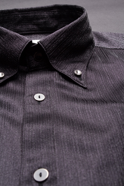 シャドーストライプボタンダウンシャツ #281 ブラック