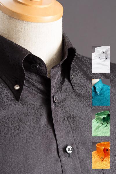 スノーダスト柄ボタンダウンシャツ#291