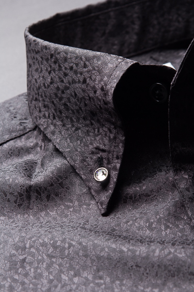 スノーダスト柄ボタンダウンシャツ#291 ブラック