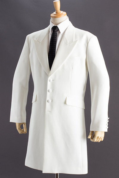 ロングジャケット・Zoot Jacket  ホワイト #30002