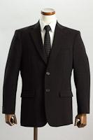 シングル 2つボタンジャケット サイドベンツ ブラック