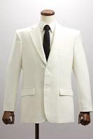 シングル 2つボタンジャケット サイドベンツ ホワイト