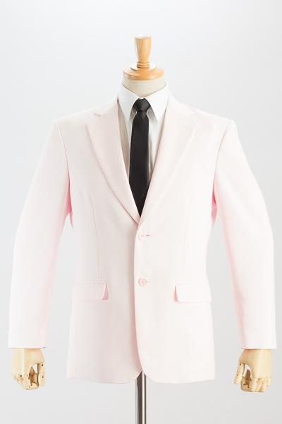 シングル 2つボタンジャケット サイドベンツ ローズピンク