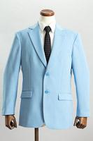 シングル 2つボタンジャケット サイドベンツ ライトブルー