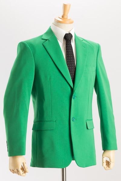 シングル 2つボタンジャケット サイドベンツ グリーン