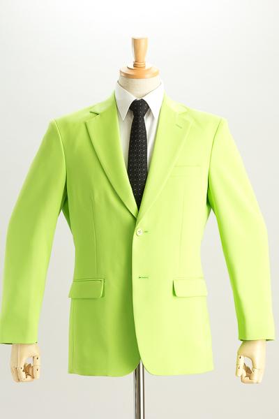 シングル 2つボタンジャケット サイドベンツ ライトグリーン