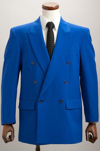 カラージャケット ダブル ブルー