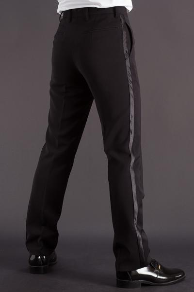 タキシードパンツ・ 側章付きパンツ #30004 ブラック