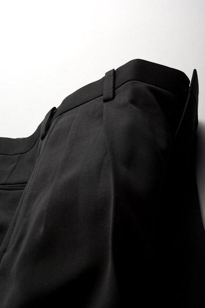 カラーパンツ ツータック ブラック