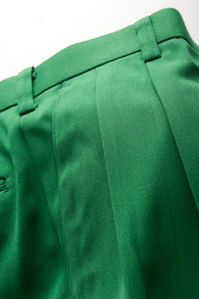 カラーパンツ ツータック グリーン