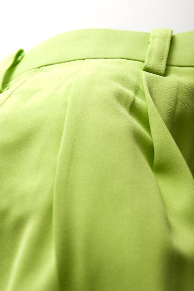 カラーパンツ ツータック ライトグリーン