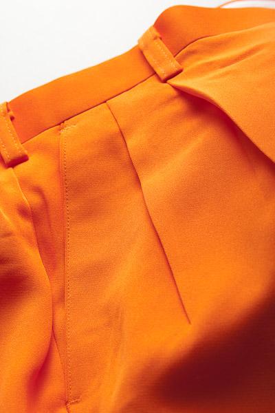 カラーパンツ ツータック オレンジ