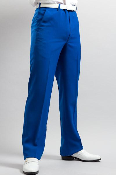 ノータックパンツ ブルー