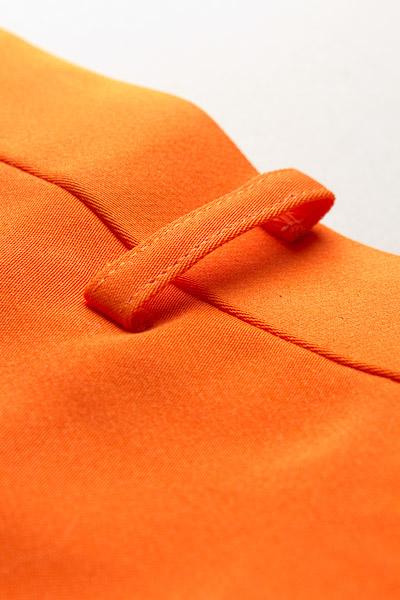 ノータックパンツ オレンジ