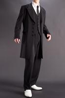 ロングズートスーツ ブラック