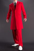 赤いズートスーツ