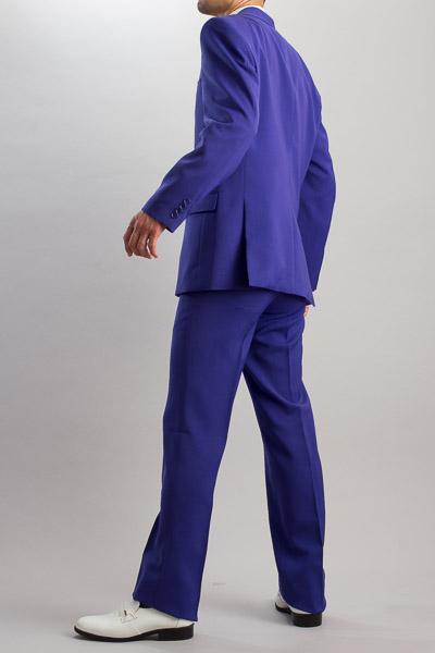 カラースーツ シングル 2つボタンサイドベンツ パープル ノータックパンツモデル