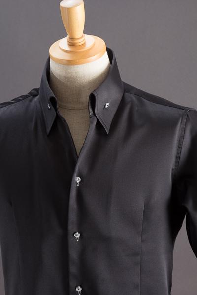 イタリアンカラーシャツ #033 ブラック