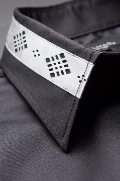 デザインカラー比翼シャツ #111  ブラック