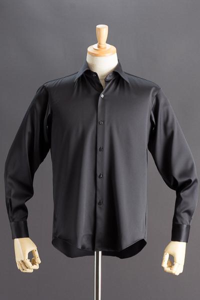 レギュラーカラーシャツ ブラック