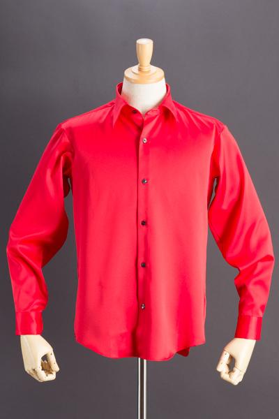 レギュラーカラーシャツ レッド