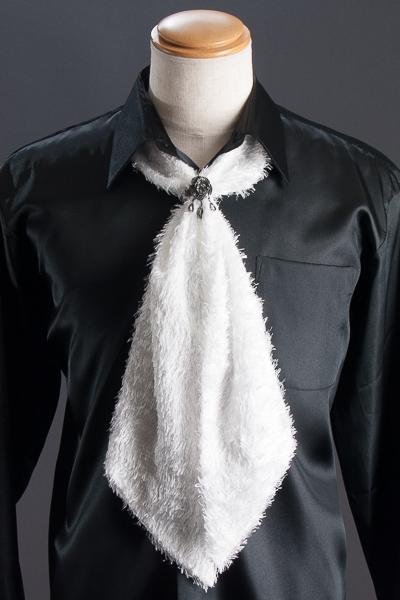 スカーフタイ リング付 #7406 ホワイト
