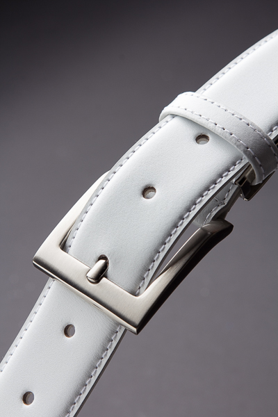 白いベルト レザー 【115cmまで対応】