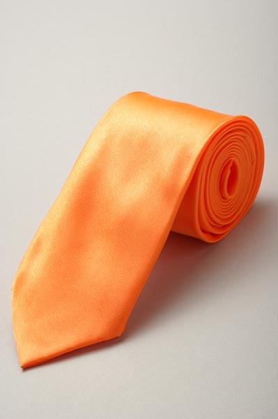 サテンネクタイ37色 オレンジ #29