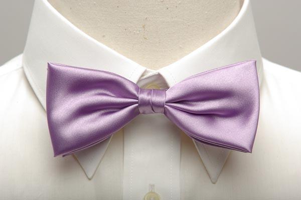 薄紫色の蝶ネクタイ