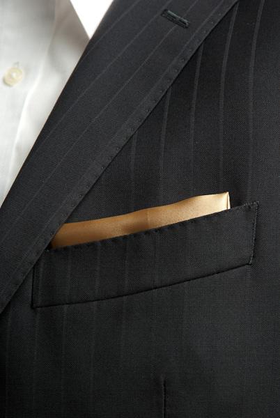 サテンポケットチーフ 37色 ゴールド #02