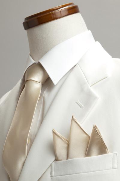 サテンポケットチーフ 37色 シャンパンゴールド #03