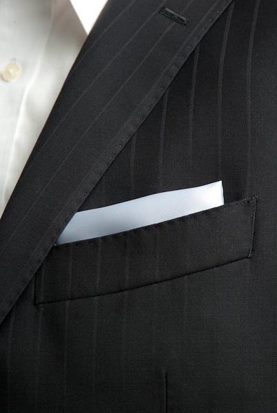 サテンポケットチーフ 37色 シルバー #05