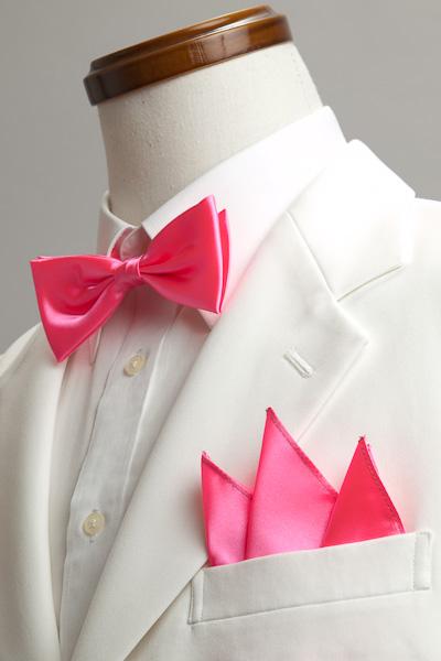 サテンポケットチーフ 37色 ショッキングピンク #09