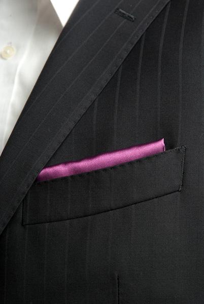 サテンポケットチーフ 37色 バイオレット #12