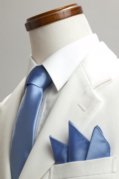 サテンポケットチーフ 37色 すみれ色 #15