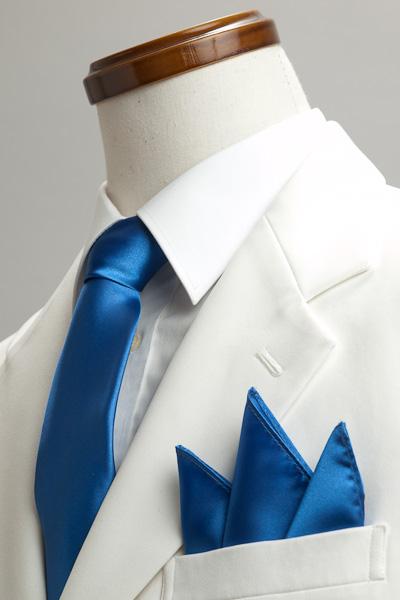 サテンポケットチーフ 37色 ロイヤルブルー #18