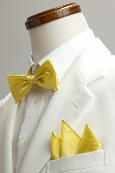 サテンポケットチーフ 37色 イエロー #26