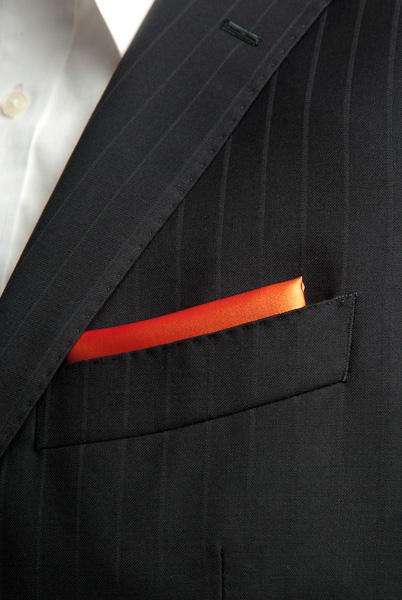 サテンポケットチーフ 37色 キャロットオレンジ #30